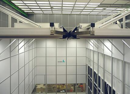 Reinraum mit 9 m Höhe